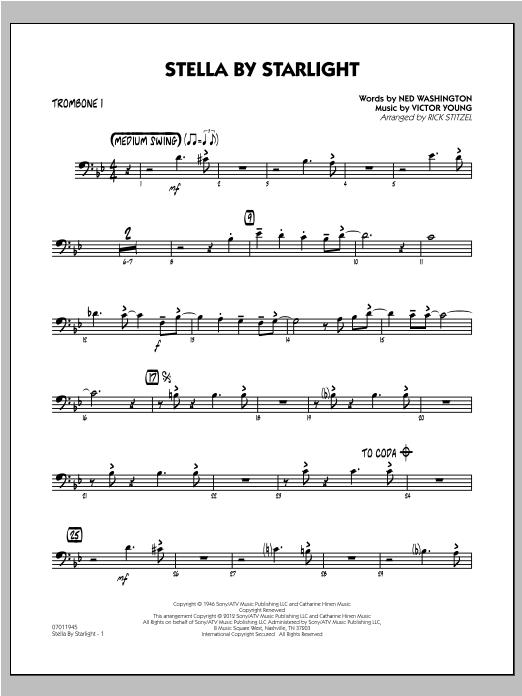 Stella By Starlight - Trombone 1 Sheet Music