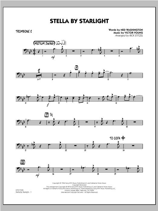 Stella By Starlight - Trombone 2 Sheet Music