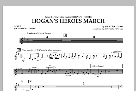Hogan's Heroes March - Pt.2 - Bb Clarinet/Bb Trumpet Sheet Music