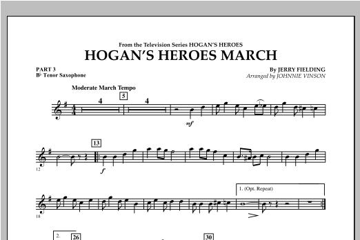 Hogan's Heroes March - Pt.3 - Bb Tenor Saxophone Sheet Music