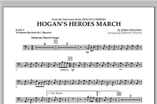 Hogan's Heroes March - Pt.5 - Trombone/Bar. B.C./Bsn. Sheet Music