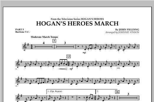 Hogan's Heroes March - Pt.5 - Baritone T.C. Sheet Music