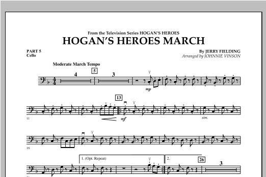 Hogan's Heroes March - Pt.5 - Cello Sheet Music
