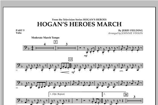 Hogan's Heroes March - Pt.5 - Tuba Sheet Music
