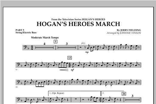 Hogan's Heroes March - Pt.5 - String/Electric Bass Sheet Music