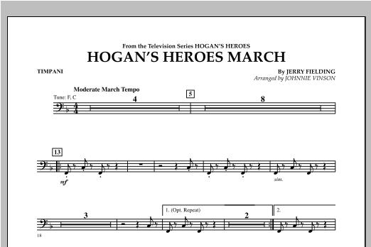 Hogan's Heroes March - Timpani Sheet Music