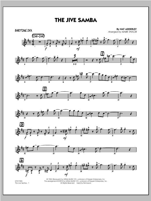 The Jive Samba - Baritone Sax (Jazz Ensemble)