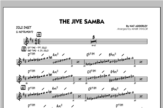 The Jive Samba - Eb Solo Sheet Sheet Music