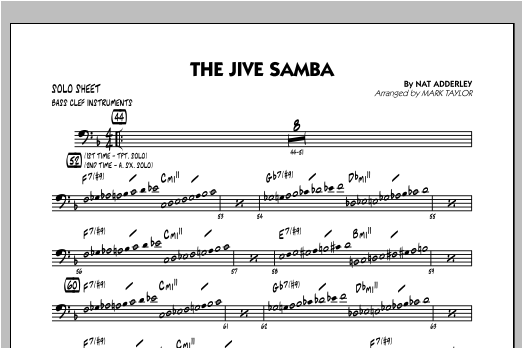 The Jive Samba - Bass Clef Solo Sheet Sheet Music