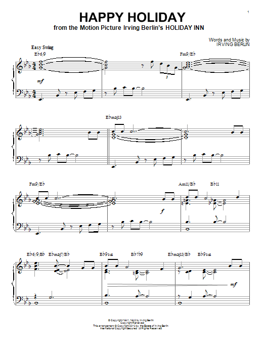 Happy Holiday [Jazz version] (arr. Brent Edstrom) (Piano Solo)