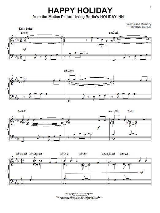 Partition piano Happy Holiday de Irving Berlin - Piano Solo