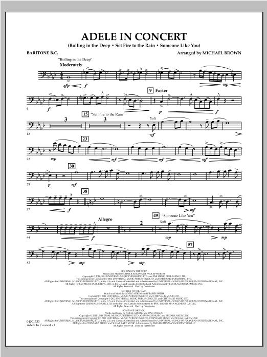 Adele In Concert - Baritone B.C. Sheet Music