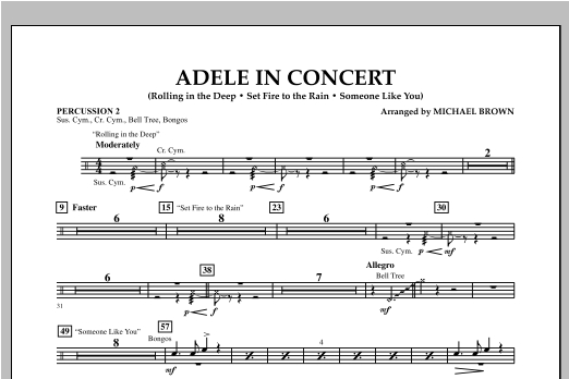 Adele In Concert - Percussion 2 Sheet Music