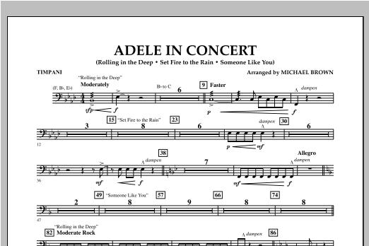 Adele In Concert - Timpani Sheet Music