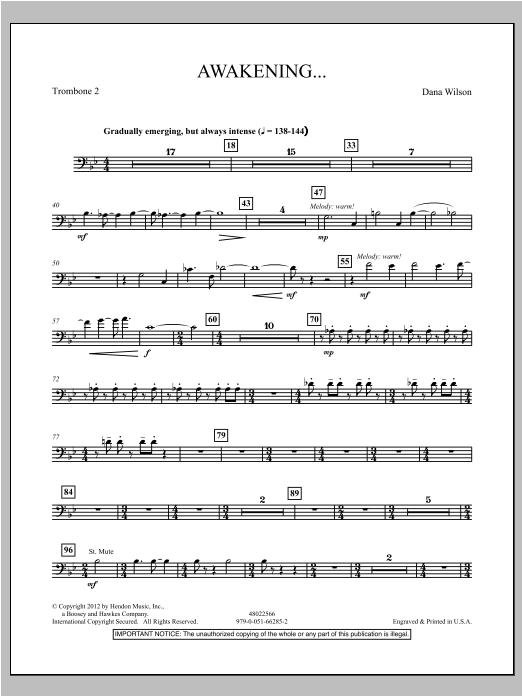 Awakening... - Trombone 2 Sheet Music