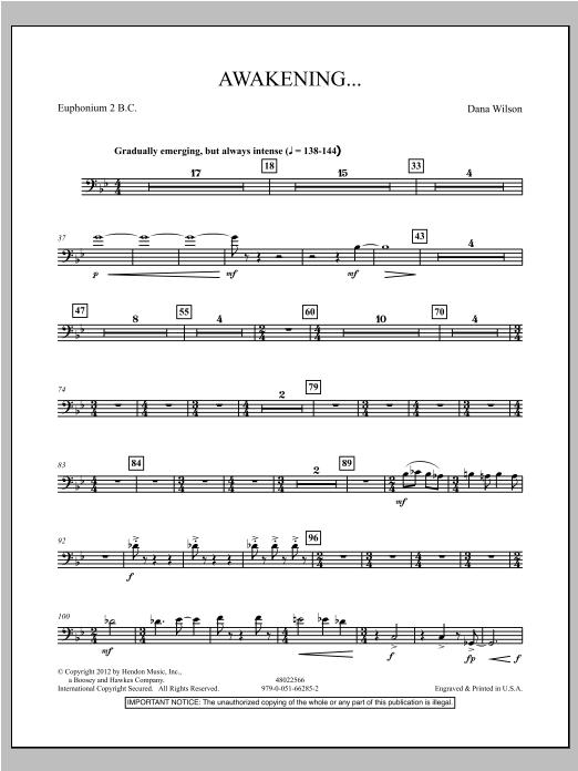 Awakening... - Euphomium 1 T.C. Sheet Music