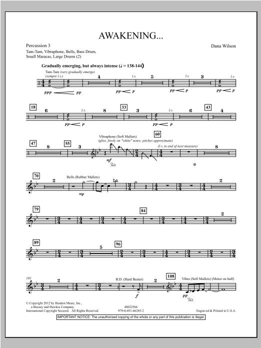 Awakening... - Percussion 3 Sheet Music