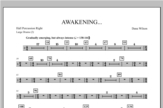 Awakening... - Hall Percussion Right Sheet Music