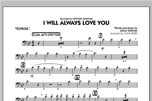 I Will Always Love You - Trombone 1 Sheet Music