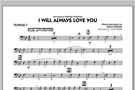 I Will Always Love You - Trombone 3 Sheet Music