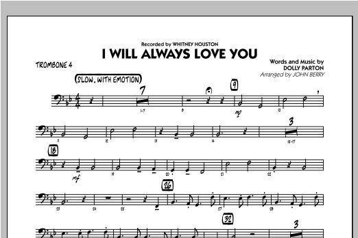 I Will Always Love You - Trombone 4 Sheet Music