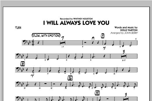 I Will Always Love You - Tuba Sheet Music