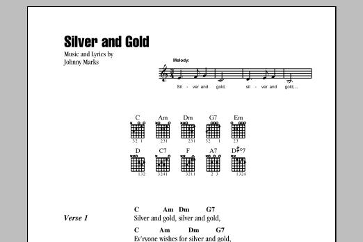 Silver And Gold (Guitar Chords/Lyrics)