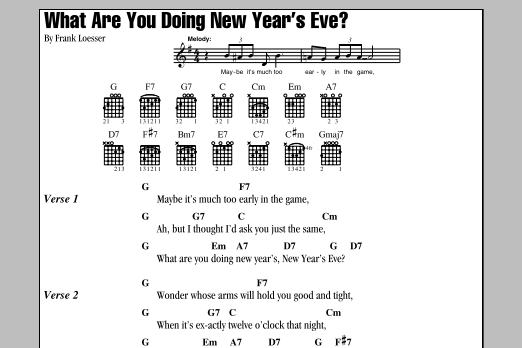 What Are You Doing New Year's Eve? Sheet Music