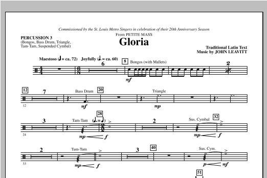 Gloria (from Petite Mass) - Percussion 3 Sheet Music