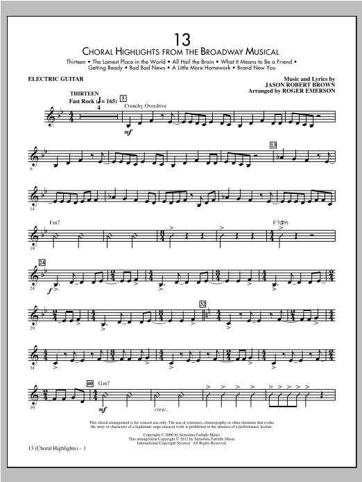 13 (Choral Highlights) - Electric Guitar Sheet Music