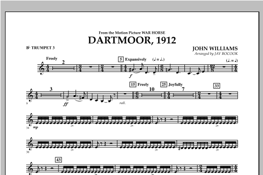 Dartmoor, 1912 (from War Horse) - Bb Trumpet 3 Sheet Music