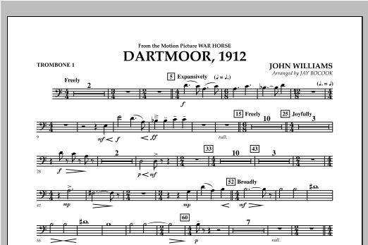 Dartmoor, 1912 (from War Horse) - Trombone 1 Sheet Music