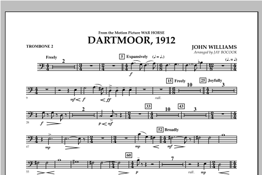 Dartmoor, 1912 (from War Horse) - Trombone 2 Sheet Music