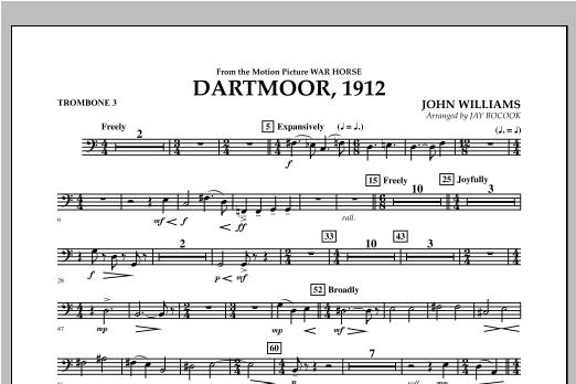 Dartmoor, 1912 (from War Horse) - Trombone 3 Sheet Music