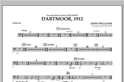 Dartmoor, 1912 (from War Horse) - Timpani Sheet Music