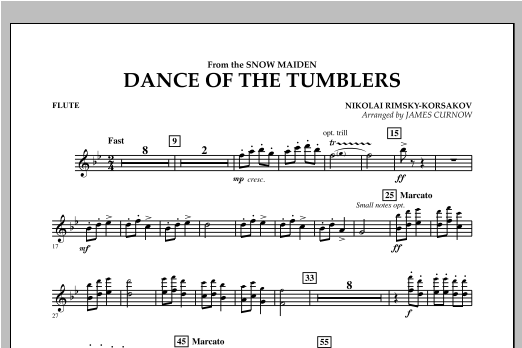 Dance Of The Tumblers (from The Snow Maiden) - Flute Sheet Music