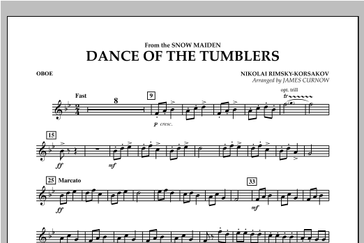 Dance Of The Tumblers (from The Snow Maiden) - Oboe Sheet Music