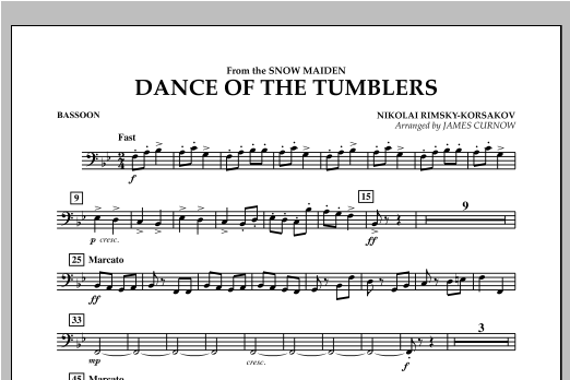 Dance Of The Tumblers (from The Snow Maiden) - Bassoon Sheet Music