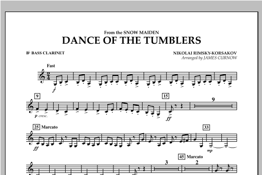 Dance Of The Tumblers (from The Snow Maiden) - Bb Bass Clarinet Sheet Music