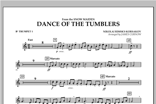 Dance Of The Tumblers (from The Snow Maiden) - Bb Trumpet 1 Sheet Music