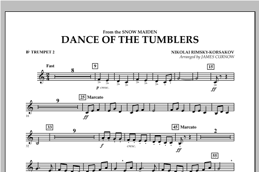 Dance Of The Tumblers (from The Snow Maiden) - Bb Trumpet 2 Sheet Music