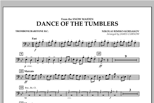 Dance Of The Tumblers (from The Snow Maiden) - Trombone/Baritone B.C. Sheet Music