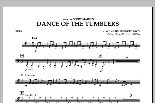 Dance Of The Tumblers (from The Snow Maiden) - Tuba Sheet Music