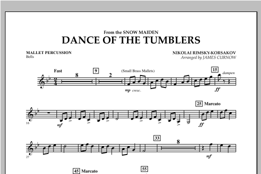 Dance Of The Tumblers (from The Snow Maiden) - Mallet Percussion Sheet Music