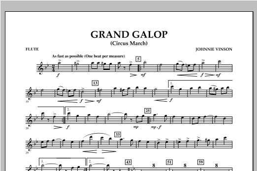 Grand Galop (Circus March) - Flute Sheet Music