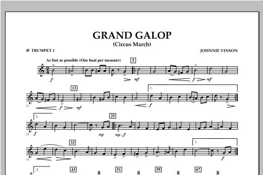 Grand Galop (Circus March) - Bb Trumpet 1 Sheet Music