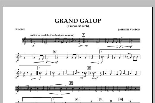 Grand Galop (Circus March) - F Horn Sheet Music