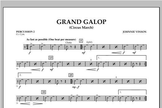 Grand Galop (Circus March) - Percussion 2 Sheet Music