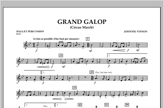 Grand Galop (Circus March) - Mallet Percussion Sheet Music