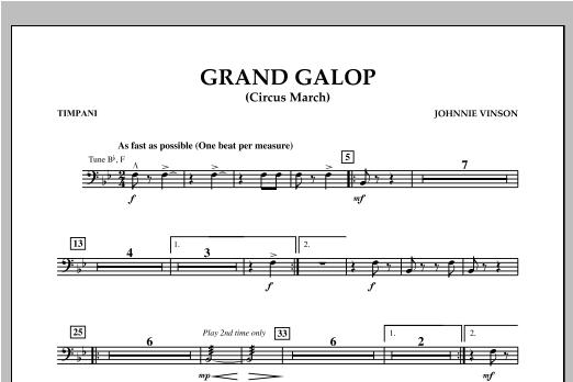 Grand Galop (Circus March) - Timpani Sheet Music